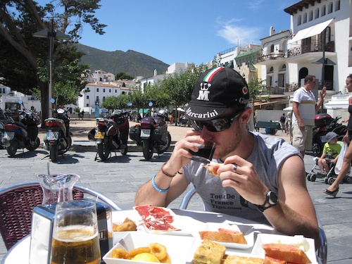 Lunch in Cadaques, Spain